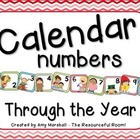 Calendar Numbers Through The Year