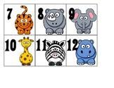 Calendar Pieces - Wild Animal, Safari, or Jungle Theme