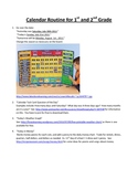 Calendar Routine for 1st and 2nd Grade
