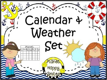 Calendar/Weather Set ~ Nautical