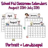 Calendars: Primary School Kids 2014-2015