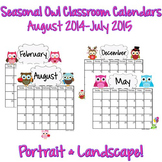 Calendars: Seasonal Owls 2014-2015