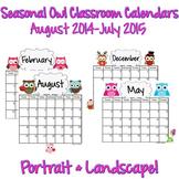 Calendars: Seasonal Owls 2014-2015