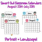 Calendars: Smart School Owls 2014-2015