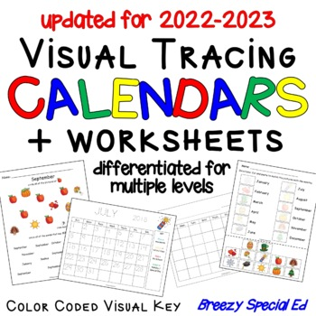 Visual Calendars for Special Education - great for math, life skills, and helps students know what to expect each month