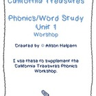 California Treasures Phonics/Word Study Unit 1