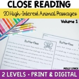 Camp Comprehension: Animals 40 Differentiated Close Readin