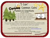 Camping Common Core I-Can Posters and Checklists: First Grade