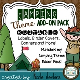 Camping Theme Add On Pack EDITABLE