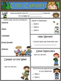 Camping Theme Newsletter Template - WORD
