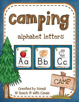 Camping Themed Classroom Alphabet