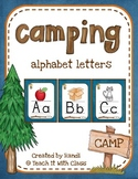 Camping Themed Classroom Alphabet