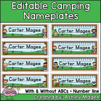 Camping Themed Nameplate/Deskplate/Nametags