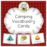 Camping Vocabulary Cards for Preschool and Kindergarten