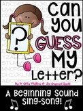 Can You Guess My Letter? {a beginning sounds activity}