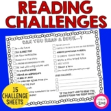 Can You Read a Book......? Reading Challenge Sheet