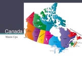 Canada Daily Warm-Ups Test Prep Questions Social Studies