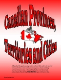 Canadian Provinces, Territories & Cities