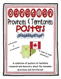 Canadian Provinces & Territories Research Posters