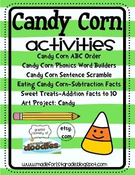 Candy Corn Math & Literacy Centers
