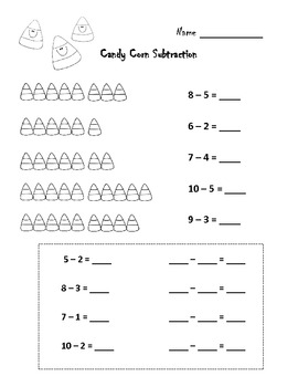 Candy Corn and Pumpkin Subtraction!