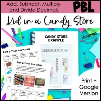 Project Based Learning: Kid in a Candy Store - Sweet Inquiry Based Math Project