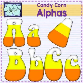 Candy corn alphabet clipart