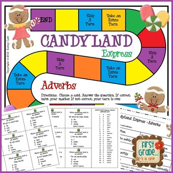 Candyland Express--Adverbs Game