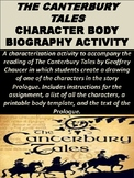 Canterbury Tales Body Biography Activity