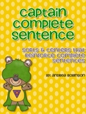 Captain Complete Sentences - Sorts & Center Activities