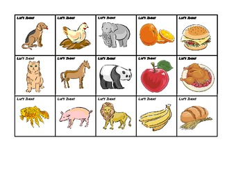 Cariboo Cards for Language - Categories and Action Verbs