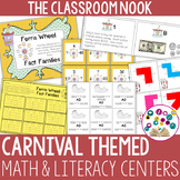 Carnival Themed Math and Literacy Centers for Intermediate