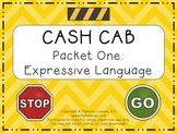 Cash Cab Themed Expressive Language Packet