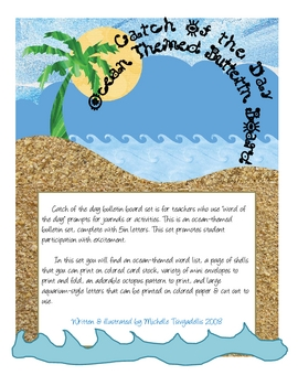 Catch The Word Of The Day - Bulletin Board Set -Ocean Theme