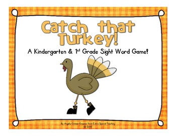 Catch that Turkey! A Sight Word Game