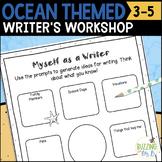 Ocean Themed Writer's Workshop Materials: Posters, Printab