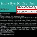 Catcher in the Rye COMPLETE, ORGANIZED 20 day unit!