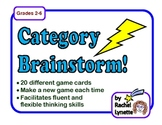 Category Brainstorm!  Fun Scattegories Type Game