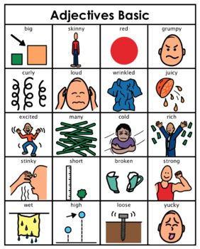 Category/Concept Boards - Adjectives