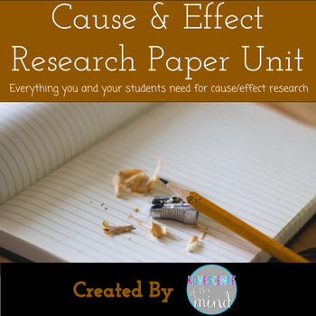 Cause and Effect Paper Unit