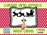 """Cause and Effect minilesson with """"Olive, the Other Reindeer"""""""