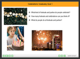 Celebrations Vocabulary Interactive Quiz 1
