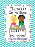 Center Signs {Chevron}
