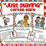 "Center Signs ~ ""Just Playing"""