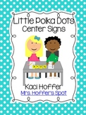 Center Signs {Little Bright Polka Dots}