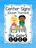 Center Signs {Ocean Themed}