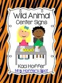 Center Signs {Wild Animal}