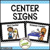 Center Signs for Preschool & Pre-K