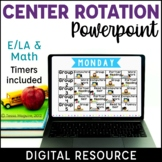 Literacy Centers Management Powerpoint {Editable}