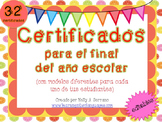 End of the Year Certificates in Spanish / Certificados par